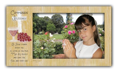 Communion Blessings Photo Frame, Girl  -     By: Caroline Simas
