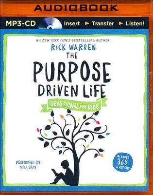 The Purpose Driven Life Devotional for Kids - unabridged audio book on MP3-CD  -     Narrated By: Stu Gray     By: Rick Warren