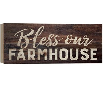 Bless Our Farmhouse, Barnhouse Box Decor   -