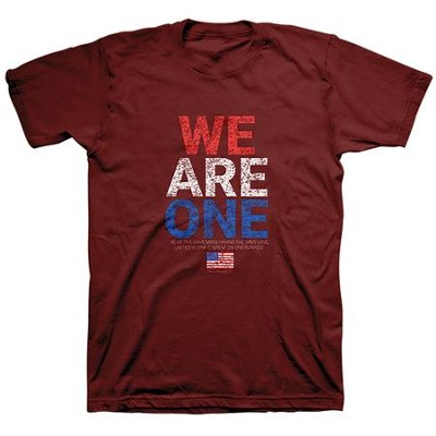 We Are One, Flag, Shirt, Red, Small  -
