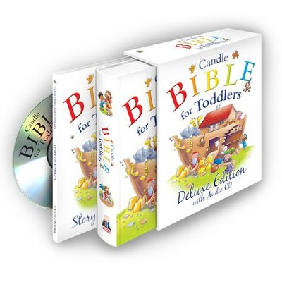 Candle Bible for Toddlers, Deluxe Edition with Audio CD  -     By: Juliet David     Illustrated By: Helen Prole