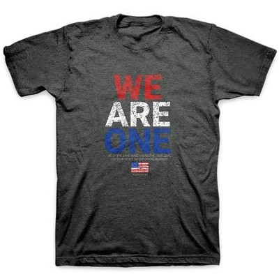 We Are One, Flag, Shirt, Gray, Small  -