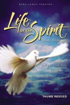 KJV Life in the Spirit Study Bible, Bonded Leather, Black,  Thumb-Indexed (Previously titled The Full Life Study Bible)  -