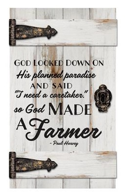 So, God Made A Farmer, Door Art  -