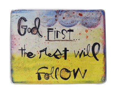 God First, the Rest Will Follow Magnet  -     By: Lynn Sanchelli