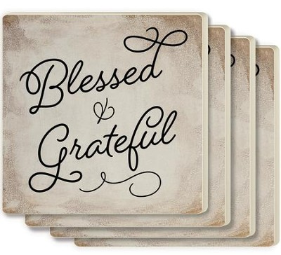 Blessed and Grateful Coasters, Set of 4  -
