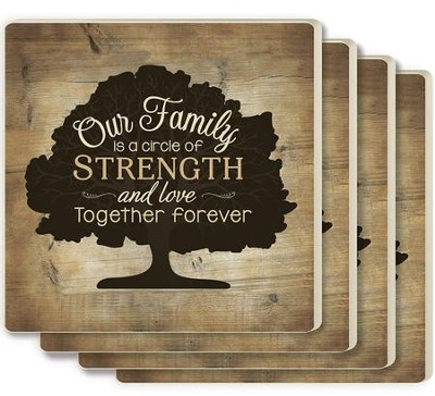 Our Family Is A Circle Of Strength And Love Coasters Set Of 4