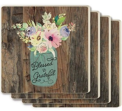 Blessed & Grateful Coasters, Set of 4  -
