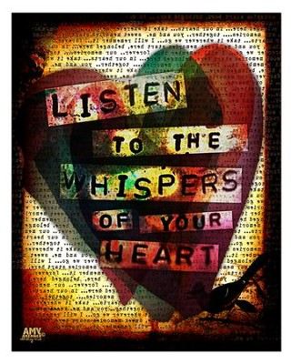 Listen To the Whispers Of Your Heart Plaque, Large  -     By: Amy Bremner