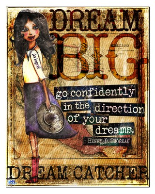 Dream Big, Go Confidently Plaque, Large  -     By: Amy Bremner