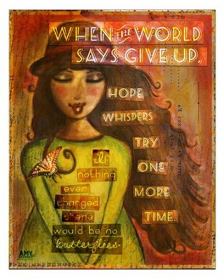 Hope Whispers, Try One More Time Plaque, Large  -     By: Amy Bremner