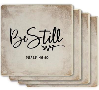 Be Still Coasters, Set of 4  -