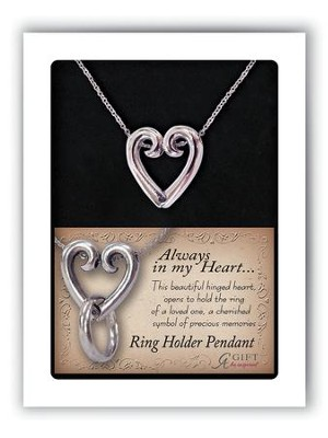 Heart Pendant Ring Holder  -