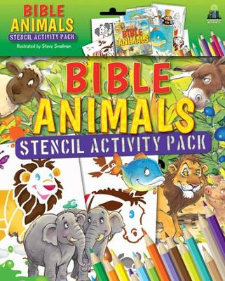 Bible Animals Stencil Activity Pack  -     By: Tim Dowley