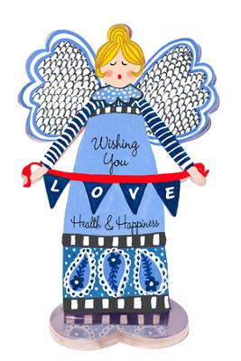 Wishing You Health and Happiness, Angel Figurine  -     By: Carol Eldridge