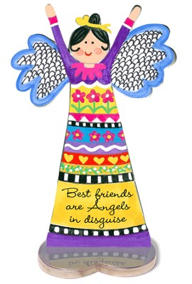 Best Friends Are Angels In Disguise, Angel Figurine  -     By: Carol Eldridge