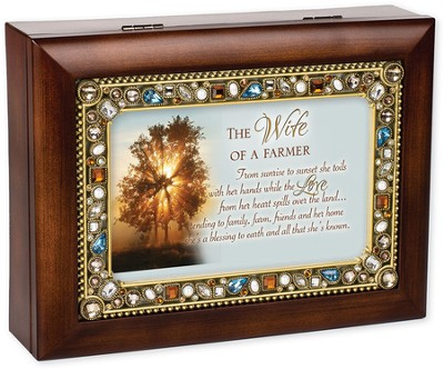 The Wife Of A Farmer, Jeweled Music Box  -