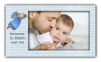 Someone To Watch Over Me, Angel Photo Frame, Blue   -     By: Carol Eldridge