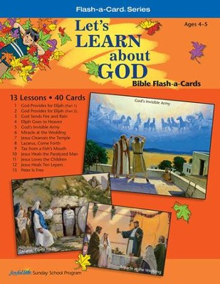 Extra Let's Learn About God Beginner (ages 4 & 5) Bible Story Lesson Guide, Revised Edition  -
