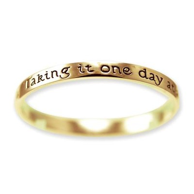 One Day At A Time Bangle Bracelet, Gold Plated  -