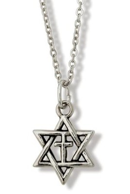 Star of David with Cross Pendant  -