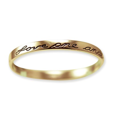 Love One Another Bangle Bracelet, Gold Plated  -