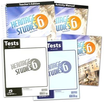 BJU Heritage Studies Grade 6 Homeschool Kit (Third Edition)    -
