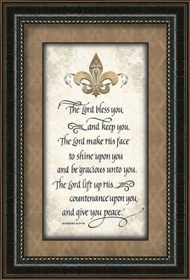 The Lord Bless You and Keep You Framed Art  -