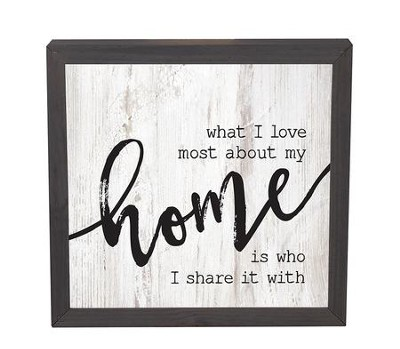 What I Love Most About My Home, Square Framed   -