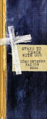 Steps to Peace with God (English/Spanish), pack of 25 tracts  -