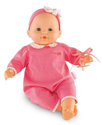 Classic Baby Doll with Pacifier, Pink  -