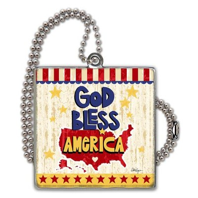 God Bless America Car Charm  -