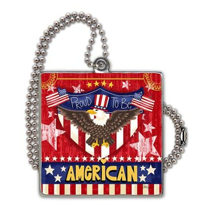 Proud To Be American Car Charm  -