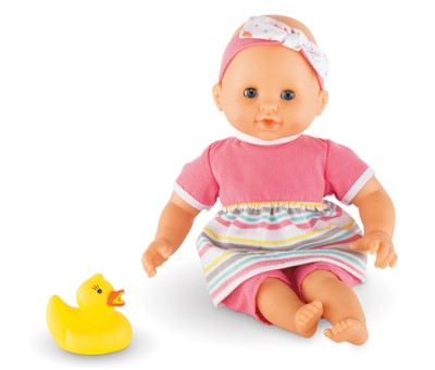 Mon Premier Bath, Baby Doll with Rubber Duck, Pink  -
