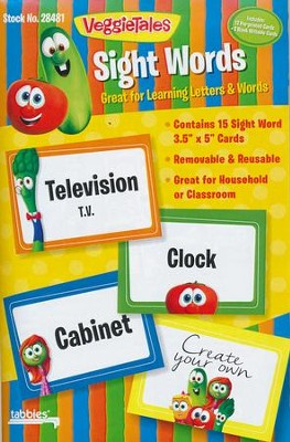 VeggieTales, Sight Words Cards, Pack of 15  -