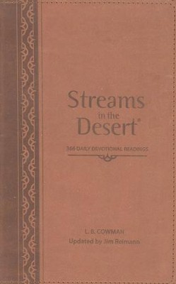 Streams In The Desert &#174: 366 Daily Devotional Readings, Italian Duo-Tone Walnut  -     Edited By: Jim Reimann     By: L.B. Cowman