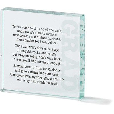 Graduate Inspirational Glass Block  -