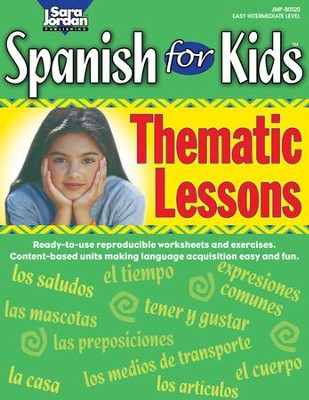 Spanish for Kids: Thematic Lessons Gr  1-4 - PDF Download [Download]