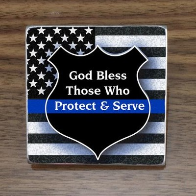God Bless Those Who Protect & Serve Magnet  -