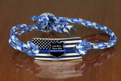 God Bless Those Who Protect & Serve Bracelet  -