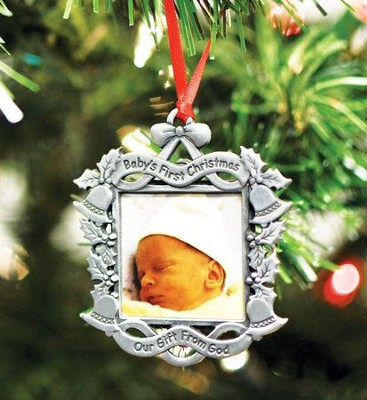 Baby's First Christmas, Photo Ornament  -