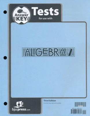 Algebra 2 Tests Answer Key (3rd Edition)   -