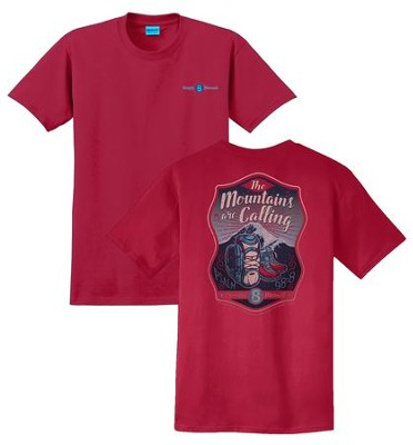 The Mountains Are Calling Shirt, Red, Large  -