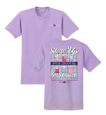 Store Up Your Treasure In Heaven Shirt, Purple, XX-Large  -