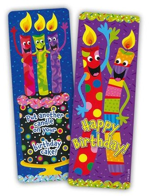 Birthday Candles Bookmarks (30 bookmarks)   -