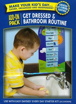 Easy Daysies Magnetic Schedules for Kids: Get Dressed and Bathroom Routine Add-On Pack  -