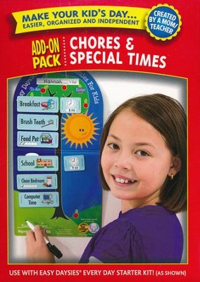 Easy Daysies Magnetic Schedules for Kids: Chores and  Special Times Add-On Pack  -