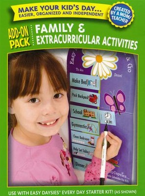 Easy Daysies Magnetic Schedules for Kids: Family & Extracurricular Activities Add-On Pack  -
