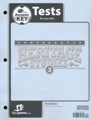Heritage Studies 3 Tests Answer Key (3rd Edition)   -
