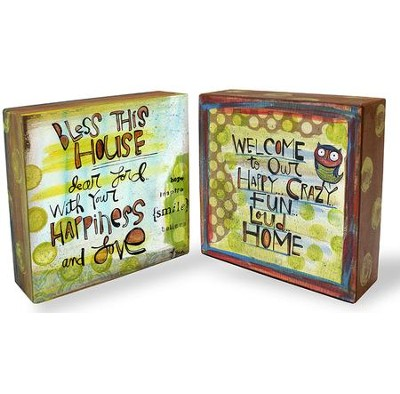 Bless This House, Dear Lord; Welcome To Our Home, Block Art  -     By: Lynn Sanchelli